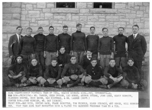 Football team in Alma, Kansas - Page