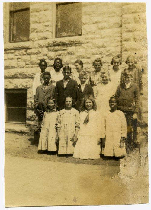 School children in Alma, Kansas - Page