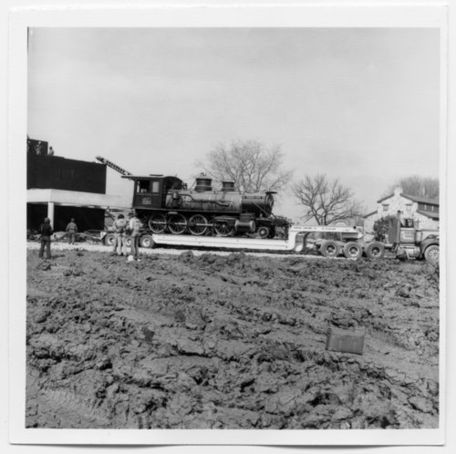 Unloading the Cyrus K. Holliday train into the museum, Topeka, Kansas - Page