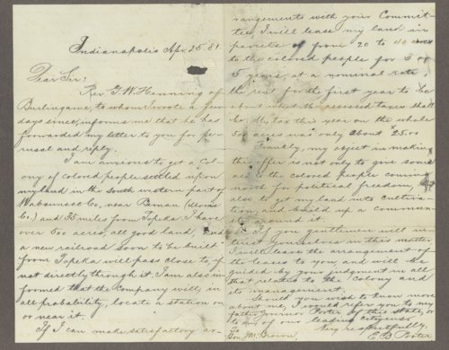 E. B. Porter to Honorable J. M. Brown - Page