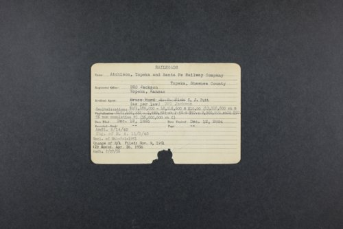 Atchison, Topeka and Santa Fe Railway Co. historic incorporation records - Page