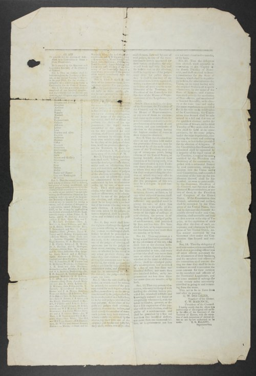 An Act to provide for the election of Delegates to a Convention to frame a State Constitution - Page