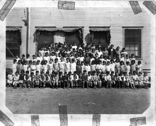 Mexican American school group possibly in Topeka, Kansas - Page