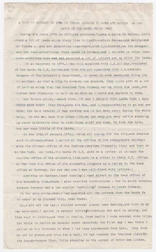 Louis Palenske to Kirke Mechem - Page