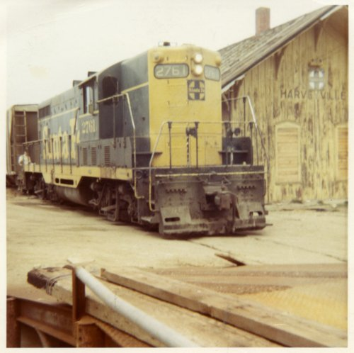 Last Atchison, Topeka & Santa Fe Railway train leaves depot, Harveyville, Kansas - Page