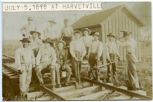 Railroad workers in Harveyville, Kansas - Page