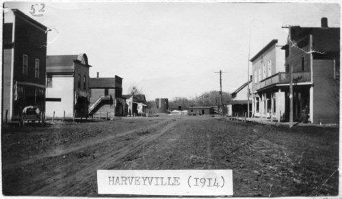 Street scene in Harveyville, Kansas - Page