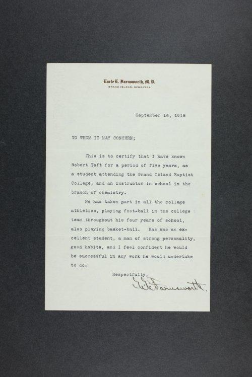 Robert Taft general correspondence - Page