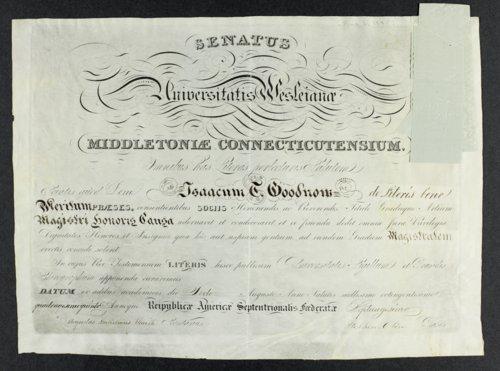 Isaac T. Goodnow diplomas - Page