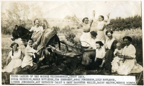 Young ladies of Des Moines neighborhood in Wabaunsee County, Kansas - Page