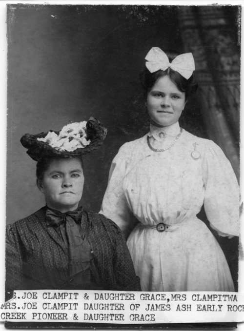 Mrs. Joe Clampit and her daughter - Page