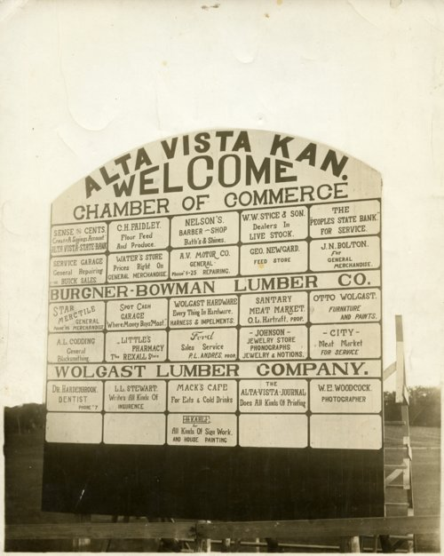 Welcome sign in Alta Vista, Kansas - Page