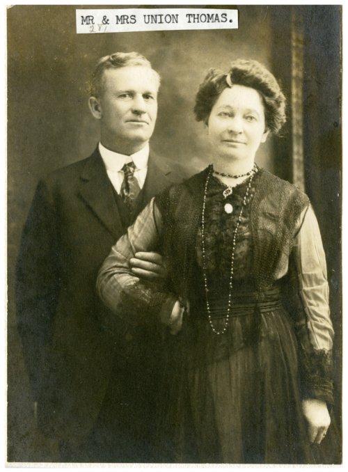 Mr. and Mrs. Union Thomas, Alta Vista, Kansas - Page