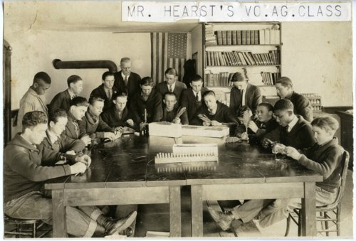 Vocational Agriculture class at Alma High School, Alma, Kansas - Page