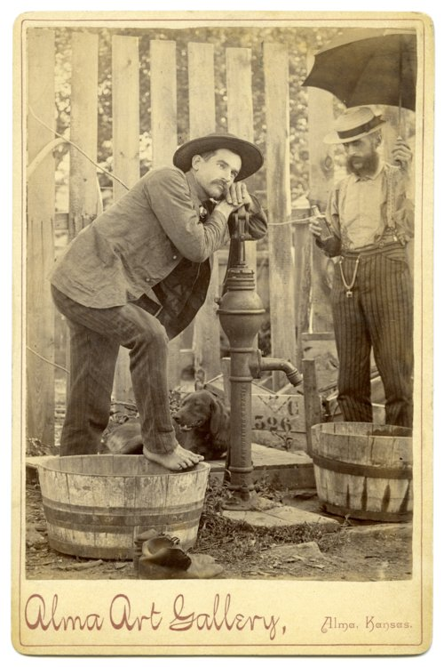 Unidentified men in Alma, Kansas - Page