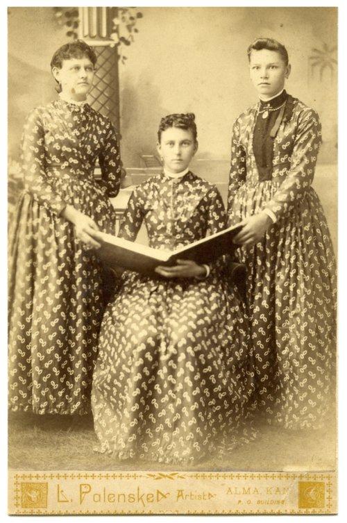 Three unidentified women in Alma, Kansas - Page