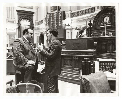 Pete Loux and John William Carlin in the Kansas House of Representatives' chambers - Page