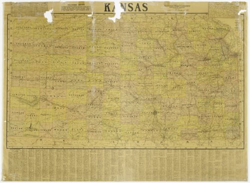 Map of the state of Kansas - Page
