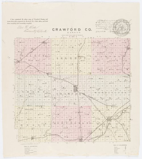 Crawford County, Kansas map - Page