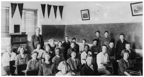 7th and 8th grade class, Alma, Kansas - Page