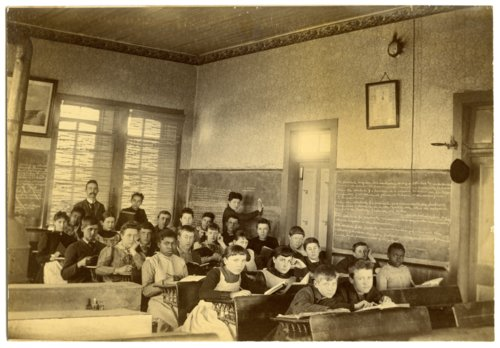 Interior view of classroom in Alma, Kansas - Page