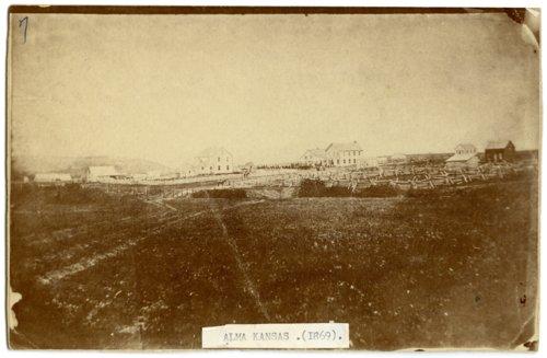 Skyline view of Alma, Kansas - Page