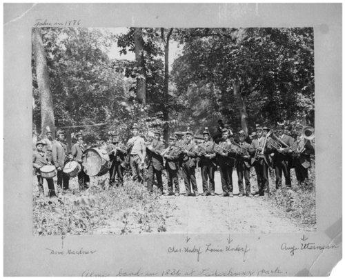 Band in Liederkranz Park, Alma, Kansas - Page