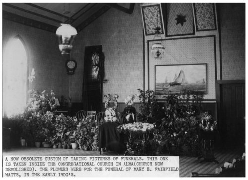 Funeral of Mary Watts, Alma, Kansas - Page