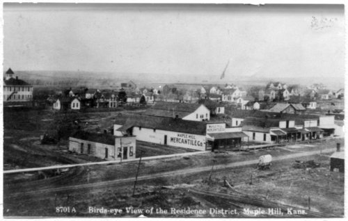 Bird's eye view of Maple Hill, Kansas - Page