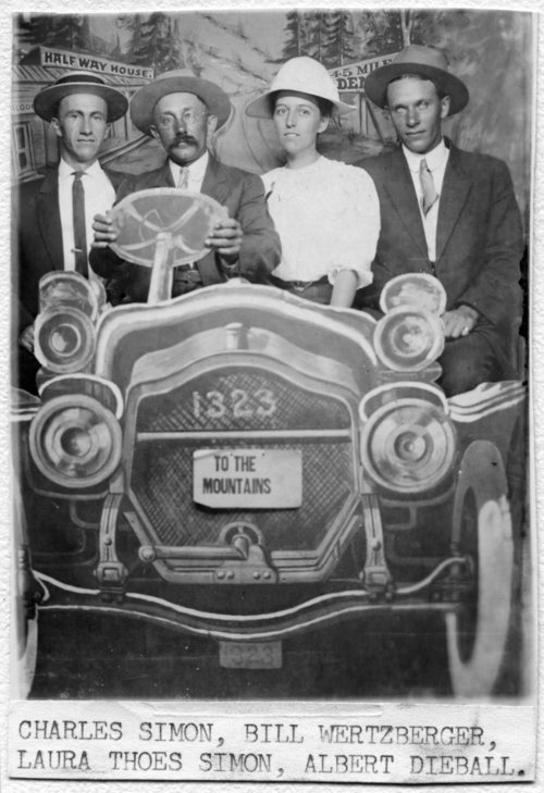 People in photography studio car, Alma, Kansas - Page