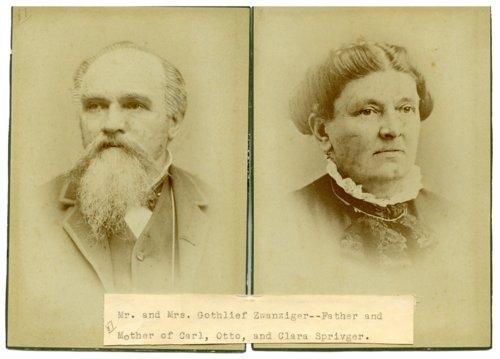 Gottlieb and Theresa Zwanziger - Page