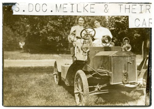 Myrtle Mielke in Model T Ford - Page