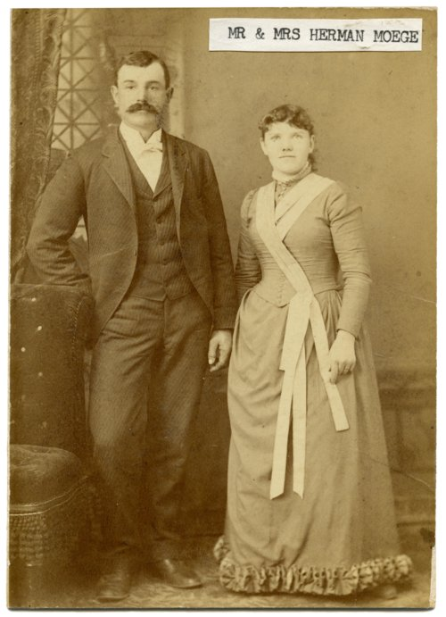 Mr. and Mrs. Herman Moege, Alma, Kansas - Page