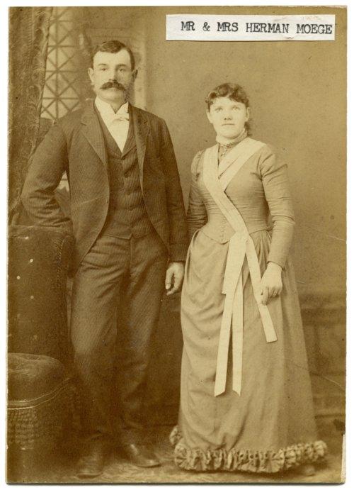 Mr. and Mrs. Herman Moege, Alma, Kansas - Page