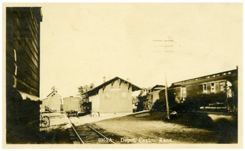 Chicago, Rock Island and Pacific Railway depot in Paxico, Kansas - Page