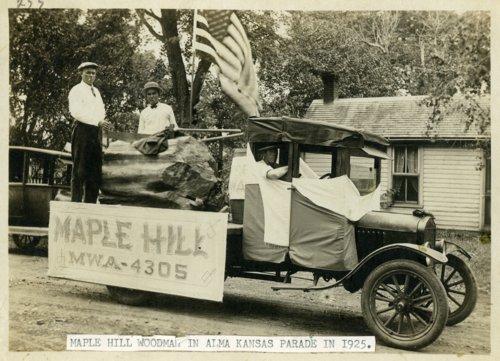 Modern Woodmen of America parade car in Alma, Kansas - Page
