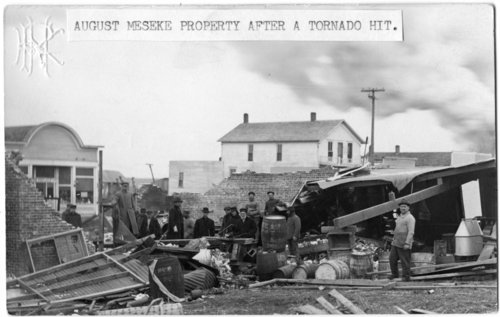 August Meseke property after tornado, Alta Vista, Kansas - Page