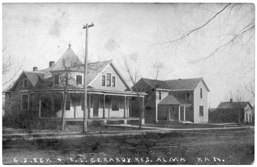 Eck and Gerardy residences in Alma, Kansas - Page