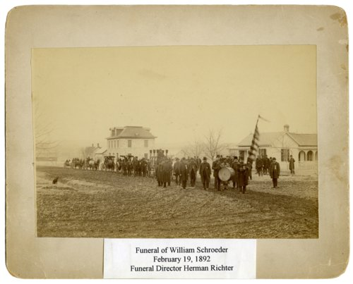 William Schroeder funeral procession in Alma, Kansas - Page