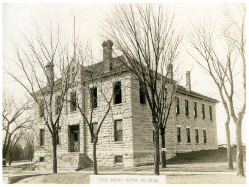 Old courthouse demolition, Alma, Kansas - Page