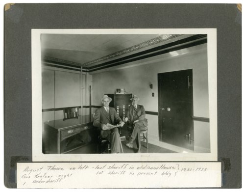 Interior view of the sheriff's office, Wabaunsee County, Kansas - Page