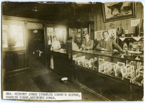 Interior view of Hickory Jones' Tobacco Shop in Alma, Kansas - Page