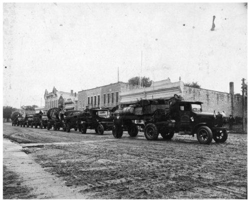 Oil drillers on Missouri Street in Alma, Kansas - Page