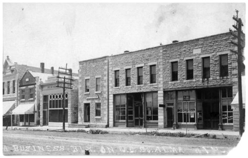 Business district, Alma, Kansas - Page