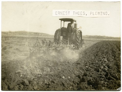 Ernest Thoes plowing fields, Alma, Kansas - Page