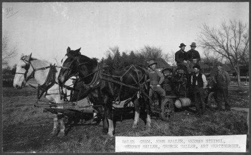 Baler crew, Alma, Kansas - Page