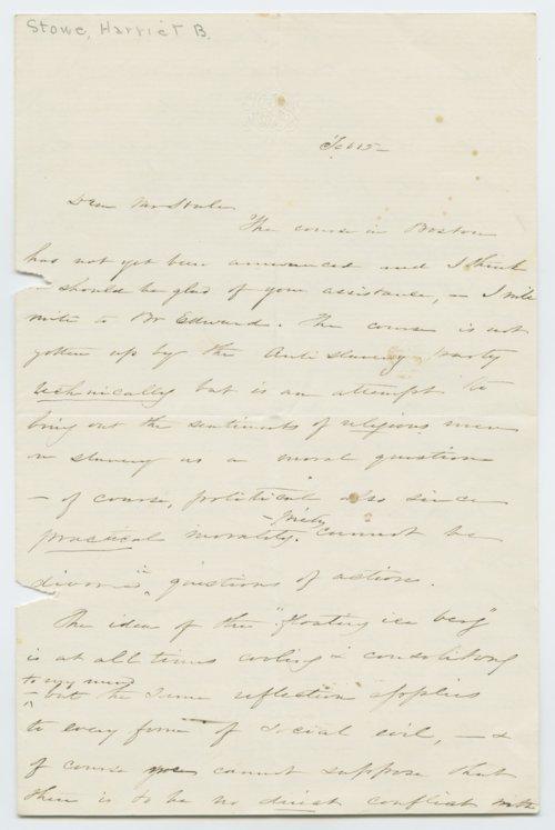 Harriet Beecher Stowe to Edward Everett Hale - Page