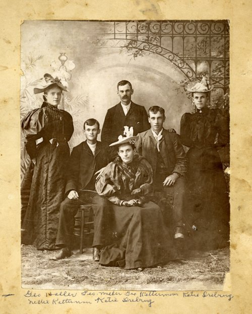People posing for studio portrait, Alma, Kansas - Page