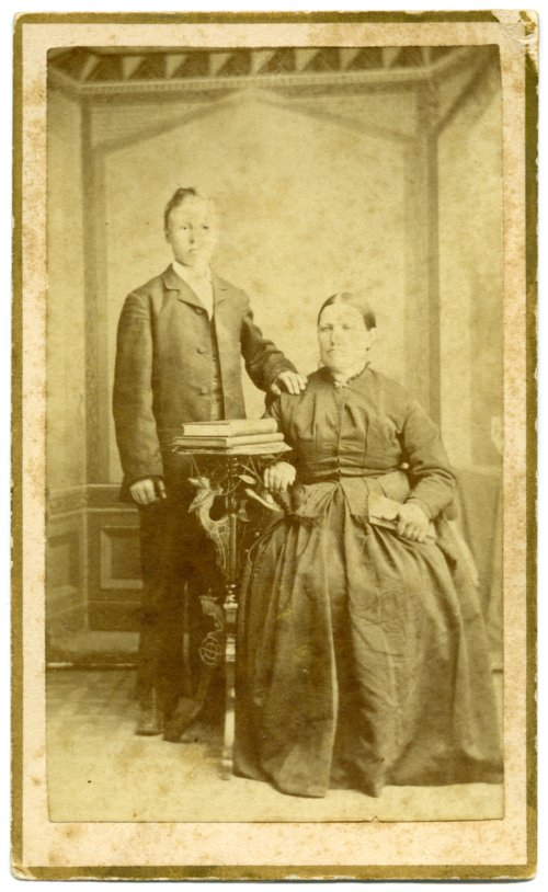 John L. Schepp and his mother - Page