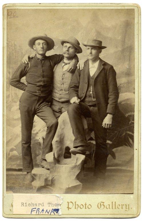 Three men in Alma, Kansas - Page